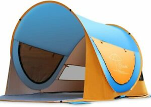 OCOOPA Beach Tent, Large Pop Up Beach Tent for 4 People, Anti-UV Automatic Beach