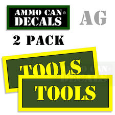 TOOLS  Ammo Can Box Decal Sticker bullet ARMY Gun safety Hunting Label 2 pack AG