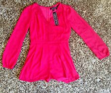 Little Mistress. Girls On Film. Ladies. Pink Lace Front Playsuit