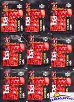 (30) 1997/98 UD Basketball Factory Sealed Sticker Packs MINT-180 Stickers+Jordan