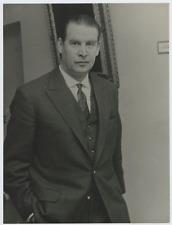 Gerhard Schröder  Vintage silver print,Gerhard Fritz Kurt Schröder, né le 7 av