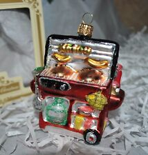 NEW IMPULS BBQ GRILL Glass Christmas Ornament Sausage Gas Poland