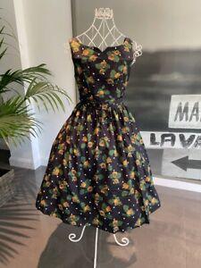Lindy Bop Delta Mustard Rose Polka Dot Vintage Style Dress