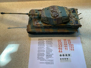 Forces of Valor 1:32 German King Tiger Tank NORMANDY CAMO + DECALS YOUR NUMBERS!
