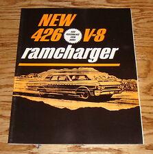 1964 Dodge Ramcharger 426 V-8 High Performance Sales Brochure Catalog 64