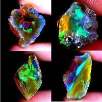NATURAL SUPER MULTI 100%POWER ETHIOPIAN OPAL ROUGH CABOCHON Ethiopia AC108