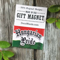 Hungarian Pride * Fridge Magnet * Gift Favor New in Pkg USA Flag DecoWords