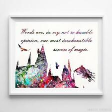 Harry Potter Quote Type 1 Watercolor Poster Nursery Decor Art Print Unframed
