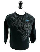 UMBRO Boys Jumper Sweater L Large Boys Black Cotton & Polyester