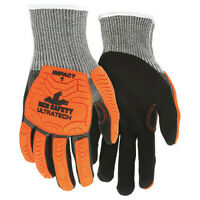 Mcr Safety Ut1952l Coated Gloves,L,Knit Cuff,Pk12