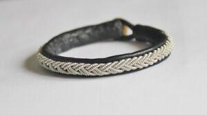 Bracelet sami Sweden handmade silver leather