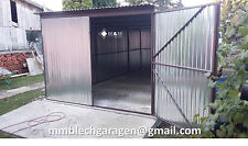 Blechgarage Garage Blechgaragen Lager Schuppe Stahlhalle 2x2,1x2,14 verzinkt 4qm