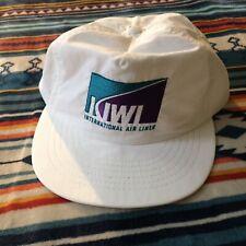 Vintage Kiwi International Airlines Snap Back Hat One Size USA Made