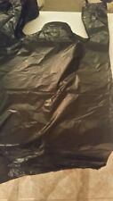 1000 NEW OUTLET T- SHIRT BAGS ,100 % PURE RESIN 10 X 5 X 18 INCH X .5 MIL BLACK
