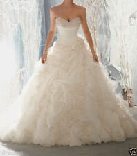 Luxury Sweetheart Ball Gown Wedding Dresses Plus Size Formal Bridal Gowns