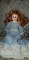 "ANTIQUE GERMAN 76/0 BISQUE SHOULDER HEAD DOLL 12 1/2"" KID JOINTED BODY"