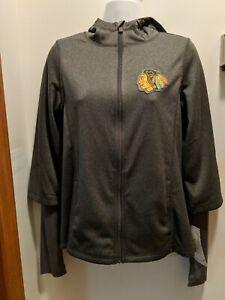Chicago Blackhawks Girls Large 14 Hooded Full Zip Jacket NWT