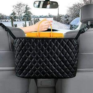 Car Net Pocket Handbag Holder Organizer Between Car Seat Side Storage Mesh Bag