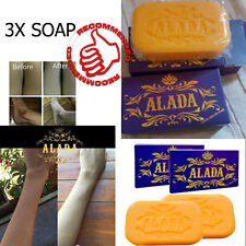 ALADA soap speed whitening,aura for Face and body original 160 g X3