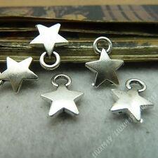 30pc Retro Tibetan Silver Star Pendant Charms Key Jewellery Accessories PJ520
