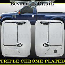 FORD SUPERDUTY 1999-2016 Triple Chrome Door Handle COVERS W/o Passenger Keyhole