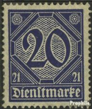 Duits Empire D19a gestempeld 1920 Numbers met 21