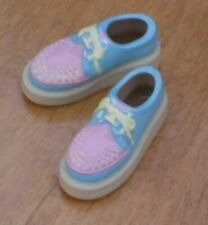 Sekiguchi Light Blue and Pink Rubber-Soled Shoes for momoko Doll (New, in US)