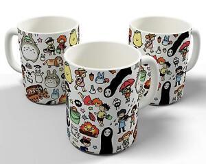 Studio Ghibli Doodle Pattern 11oz Mug / Cup Anime Totoro Ponyo