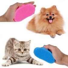 Pet Bath Brush Comb Flexible Band Cat Dog Cleaning Massage Grooming Glove Rubber