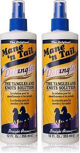 (Pack-2) Mane'n Tail Tail Detangler 12 fl.oz / 355ml - NEW