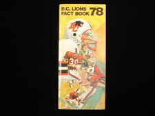 1978 British Columbia Lions CFL Media Guide