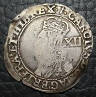 Silver 1646-48 England Great Britain Shilling | Charles I | Sceptre MM | S-2804