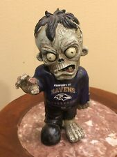 """NFL Baltimore Ravens Zombie Walker Figure, Forever Collectibles Halloween 9"""""""