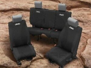 Jeep Wrangler 2013-2015 Black Vinyl Front Seat Covers