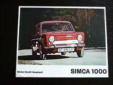 Prospekt Simca 1000 1966