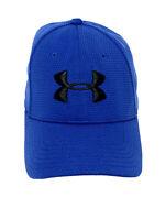 Under Armour Baseball Ball Cap Hat Blue Logo Size Large Extra Large L XL EUC