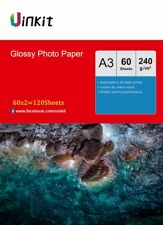 A3 Glossy Photo Paper Inkjet Photography Paper 240G - 120 Sheets Uinkit
