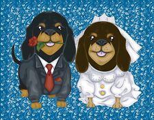 Metal Magnet Dachshund Wedding Love Dog Bride Groom Dogs Dachshunds Magnet