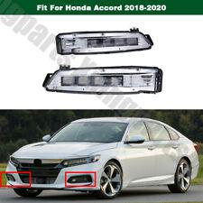 Front Pair LED Foglight Fog Bumper Lamp Light LH & RH For Honda Accord 2018-2020