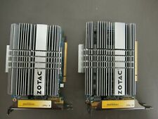Lot of 2 ZOTAC GT220 ZONE EDITION 1GB 128BIT DDR2 graphics cards 17154AM