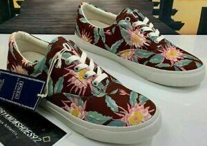 Mens Polo Ralph Lauren Hoffman Fabric Harpoon Canvas Shoe Floral NWT