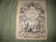 ANTIQUE 1855 VICTORIAN ART PRINT ETHNOLOGY ASIA AFRICA BALLOUS AMERICA FASHION N