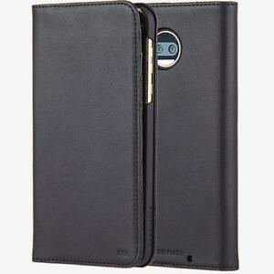 Case Mate Moto Z2 Wallet Folio Handcrafted Genuine Leather Black