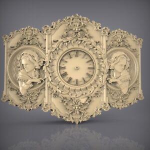 (871) STL Model Clock for CNC Router 3D Printer  Artcam Aspire Bas Relief