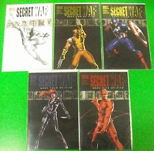 Secret War #1 2 3 4 5 Run Lot Complete Series 2004 1st Daisy Johnson Quake- Marv
