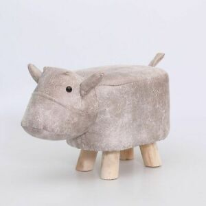 Infant Kids Chair Children Cartoon Animal Stool Home Solid Wood Small Bench Baby