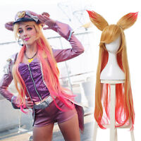 League of Legends LOL Ahri Star Guardian the Nine Tailed Fox Long Cosplay Wig