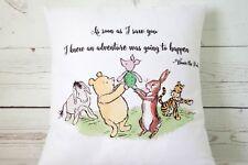 "Adventure - 16"" cushion cover Vintage Winnie The Pooh Nursery chic boy/girl gift"