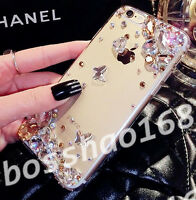 Glitter Luxury Bling Gold clear stones Diamond Soft Case Cover for Sony