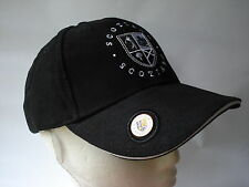 GOLF GIFT - SCOTLAND BLACK CAP HAT WITH BALL MARKER - OLD COURSE ST ANDREWS BALL